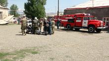 Ուսումնավարժանքներ  Ախուրյանի հրշեջ-փրկարարական կենտրոնի վարժահրապարակում