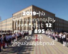 895 մլն դրամի շրջանակներում հիմնանորոգվել և ներեգվել են Շիրակի մարզի  12 դպրոց