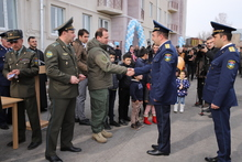 Գյումրիում այսօր բնակարանամուտ է տոնել 44 զինծառայողի ընտանիք